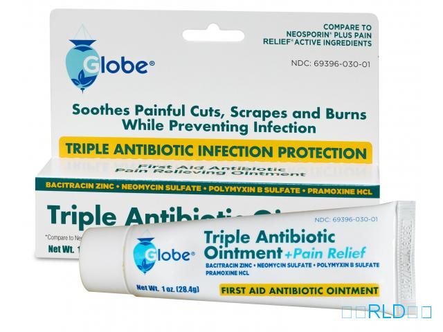GLOBE三重抗生素+止痛双效软膏(GLOBE Triple Antibiotic + Pain Relief Dual Action Ointment)