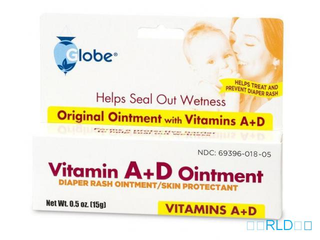 维生素A + D尿布疹软膏(Globe Vitamin A + D Diaper Rash Ointment)