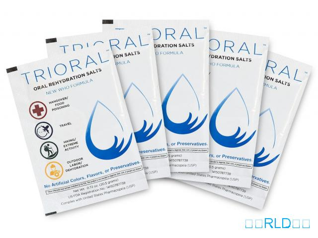 TRIORAL口服补液盐(每盒100包)(TRIORAL Oral Rehydration Salts (100 Packets Per Box))