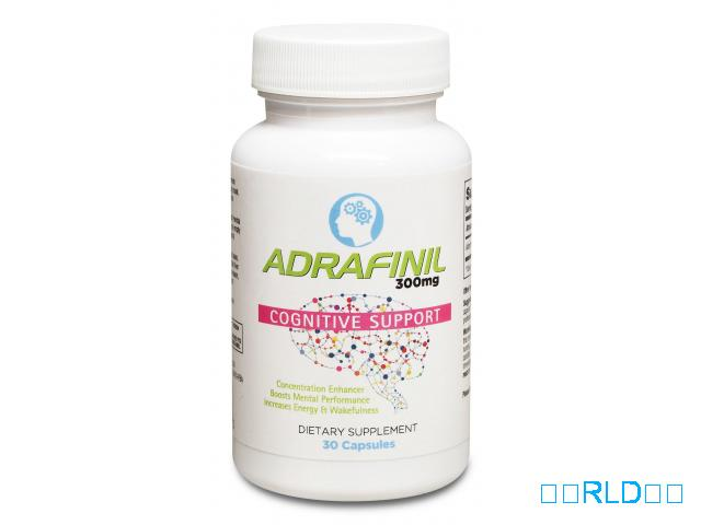 Adrafinil 300毫克高级促智精补充剂(30胶囊)(Adrafinil 300 mg Premium Nootropic Supplement For Focus & Attention (3