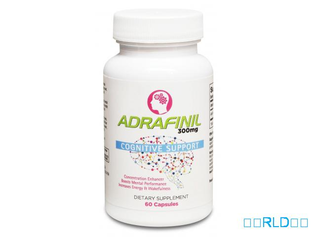 Adrafinil 300 mg优质促智助精(60粒)(Adrafinil 300 mg Premium Nootropic Supplement For Focus & Attention (60