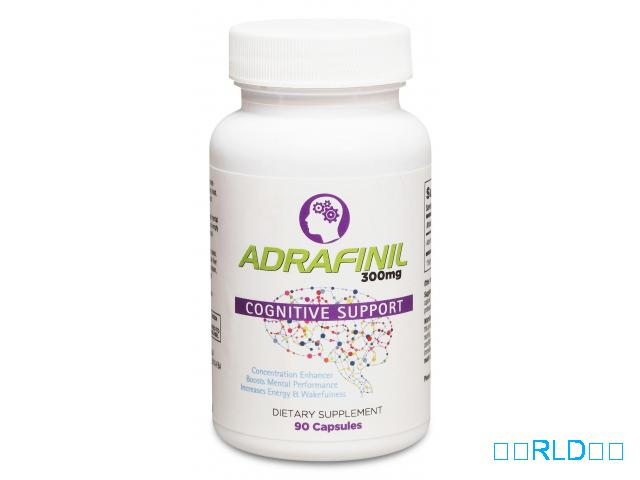 Adrafinil 300 mg优质促智助精(90粒)(Adrafinil 300 mg Premium Nootropic Supplement For Focus & Attention (90