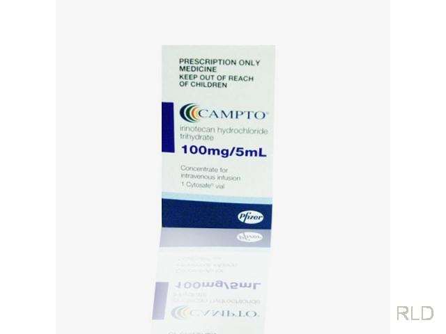 Campto:伊立替康100毫克注射液(Irinotecan 100 Mg Injection)