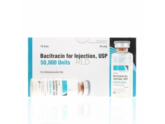 参比制剂,进口原料药,医药原料药 Bacitracin for Injection 50,000 Units Per Vial, USP - Box/10