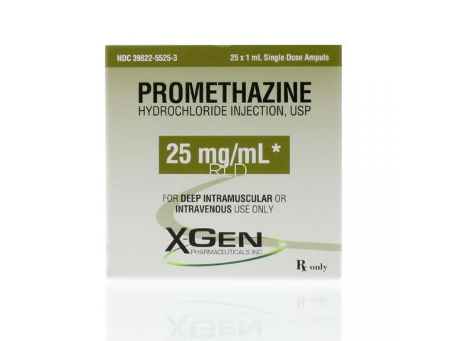 Promethazine 25mg/ml 1ml SDA - Box/25