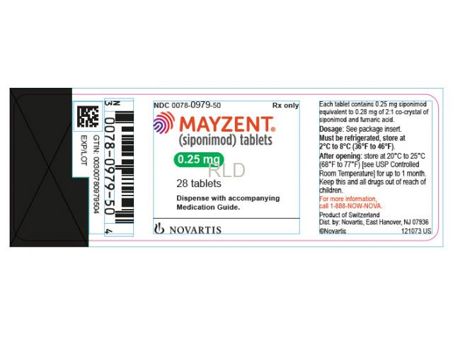Mayzent (siponimod) Tablets 0.25mg