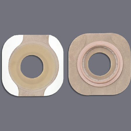 Colostomy Barrier New Image™ Flextend™ Pre-Cut, Extended Wear Tape 2-1/4 Inch Flange Red Code Hydrocolloid 1-3/8 Inch Stoma